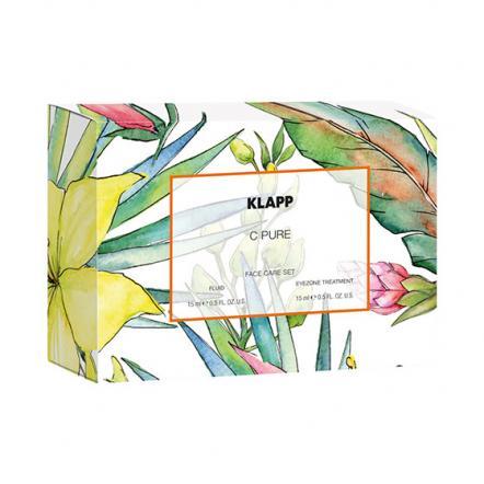 Набор С PURE крем для кожи вокруг глаз и витаминная эмульсия, KLAPP